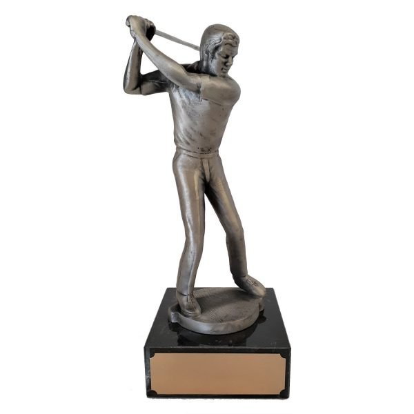 Male Golf swinging Solid Metal
