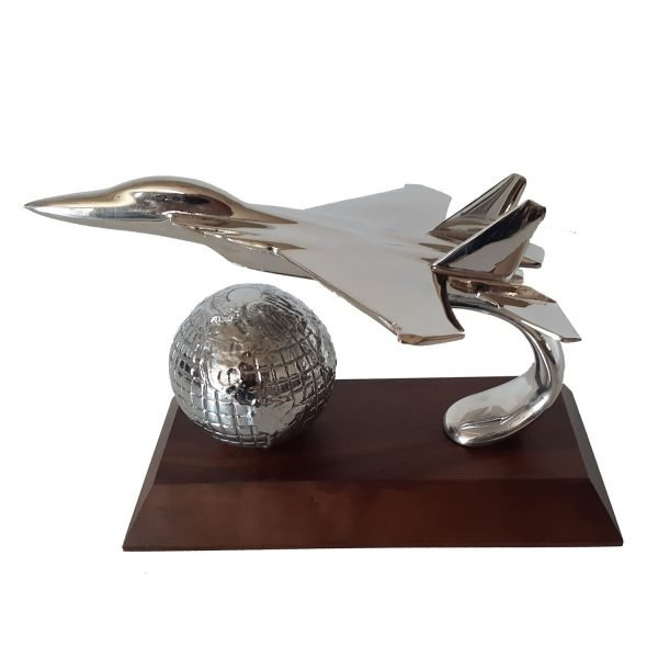 Top Gun Desk Set with Globe Award Solid Metal