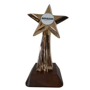 Shooting Star Award Solid Metal