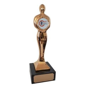 Large Top Achievement Award with your logo Solid Metal
