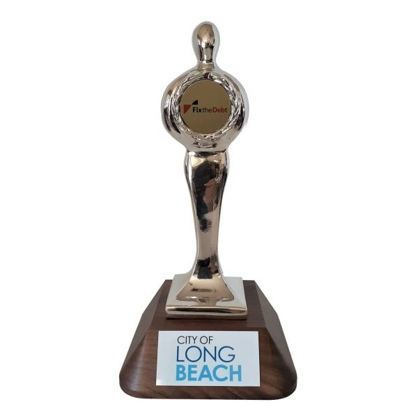 Standard Top Achiever Award with your logo Solid Metal