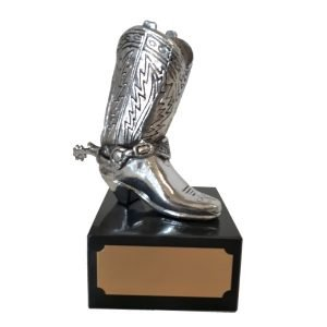 Cowboy Boot  Paper Weight/Pencil Holder Solid Metal