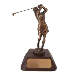 Female Golf After Swing Solid Metal