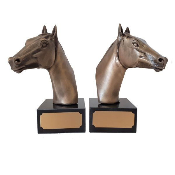Horse Head Book Ends Solid Metal
