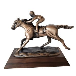 Thoroughbred in Stretch Drive Solid Metal