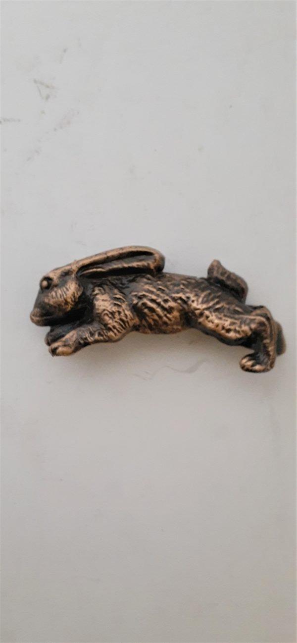 Bunny Rabbit Cabinet Pull Solid Metal