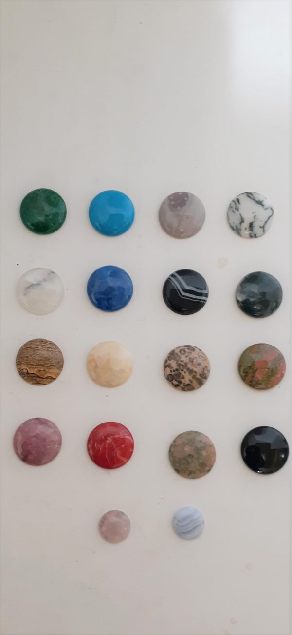 Cabinet Knobs with Semi Precious Cabochon stones Solid Metal