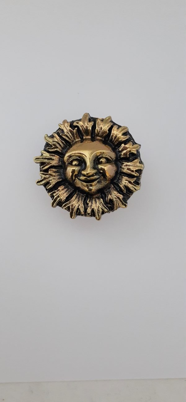 Sun Face Cabinet Knob Solid Metal