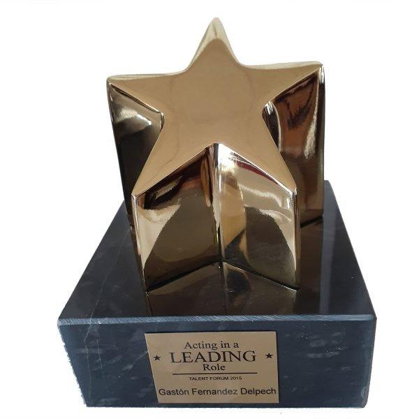 Rising Star Award Solid Metal