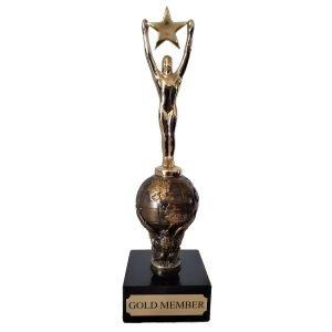 Global Star Achievement Award Solid Metal