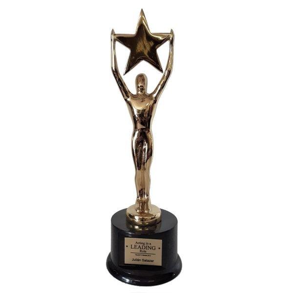 Starman Achievement Award Solid Metal