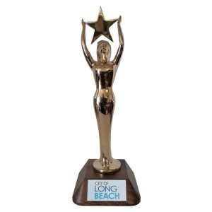 Womens Star Achievement Award Solid Metal