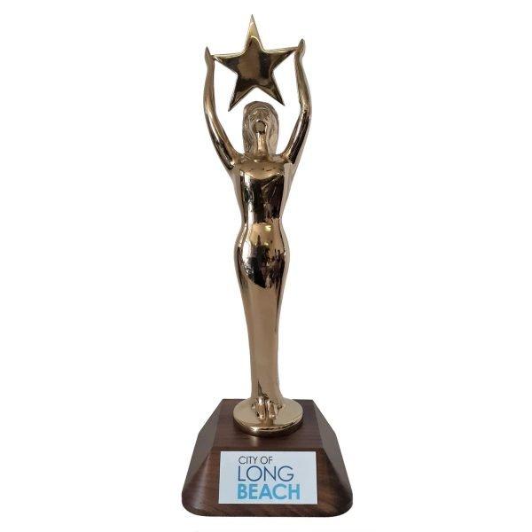 Womens Star Achievement Award Solid Metal