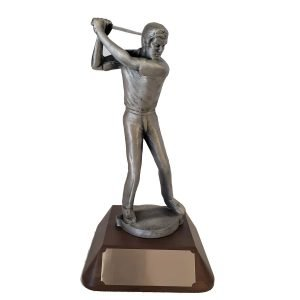 Male Golf swinging Solid Metal