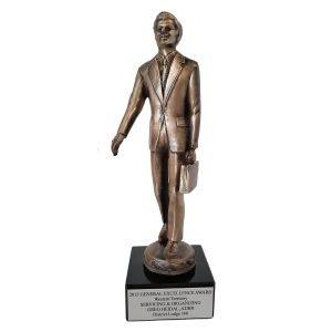 Top Salesman Award Solid Metal