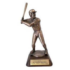 Baseball Batter Solid Metal