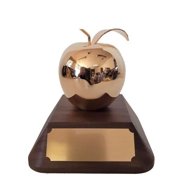 Golden Apple Award Solid Metal