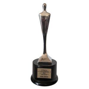 Modern Tech Achievement Award Solid Metal