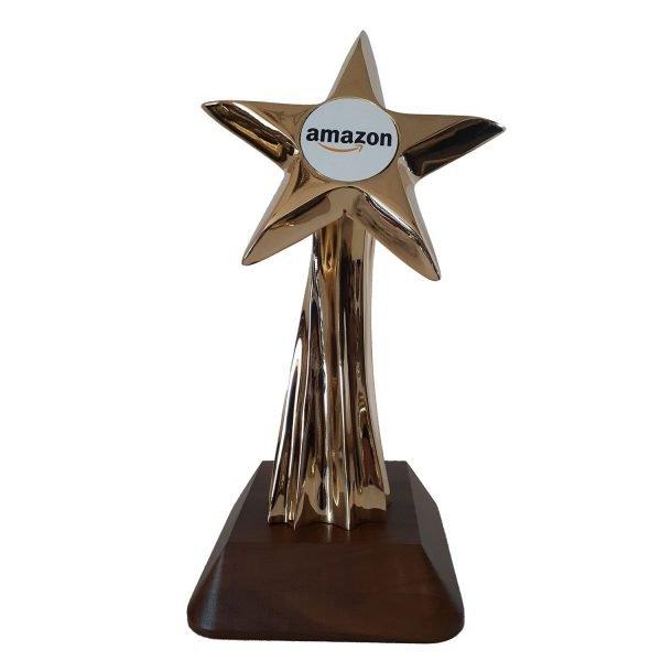 Shooting Star Award Solid Metal