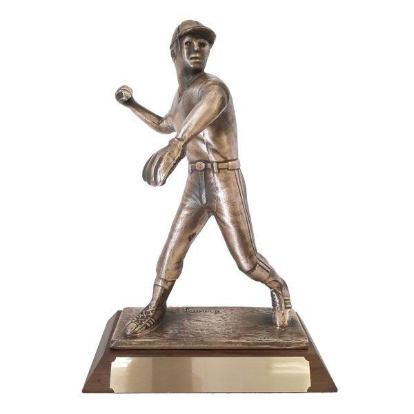 Baseball Pitcher Solid Metal