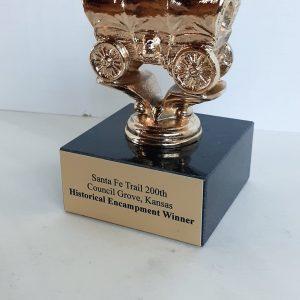 Chuck Wagon or Western Caravan Award Solid Metal