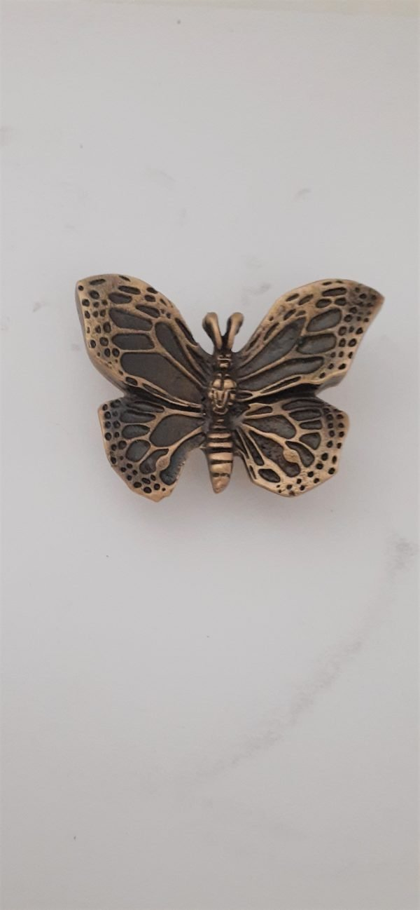 Butterfly Cabinet Knob Solid Metal
