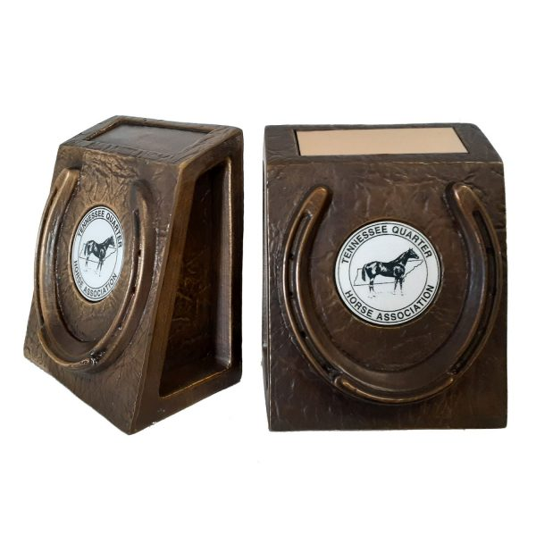 Horse Shoe Book Ends Solid Metal