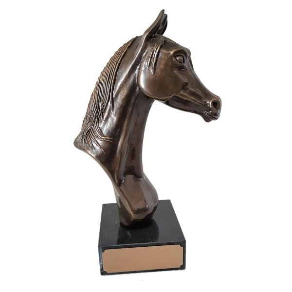 Arab Horse Head Solid Metal