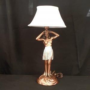 Hula Girl Lamp Solid Metal