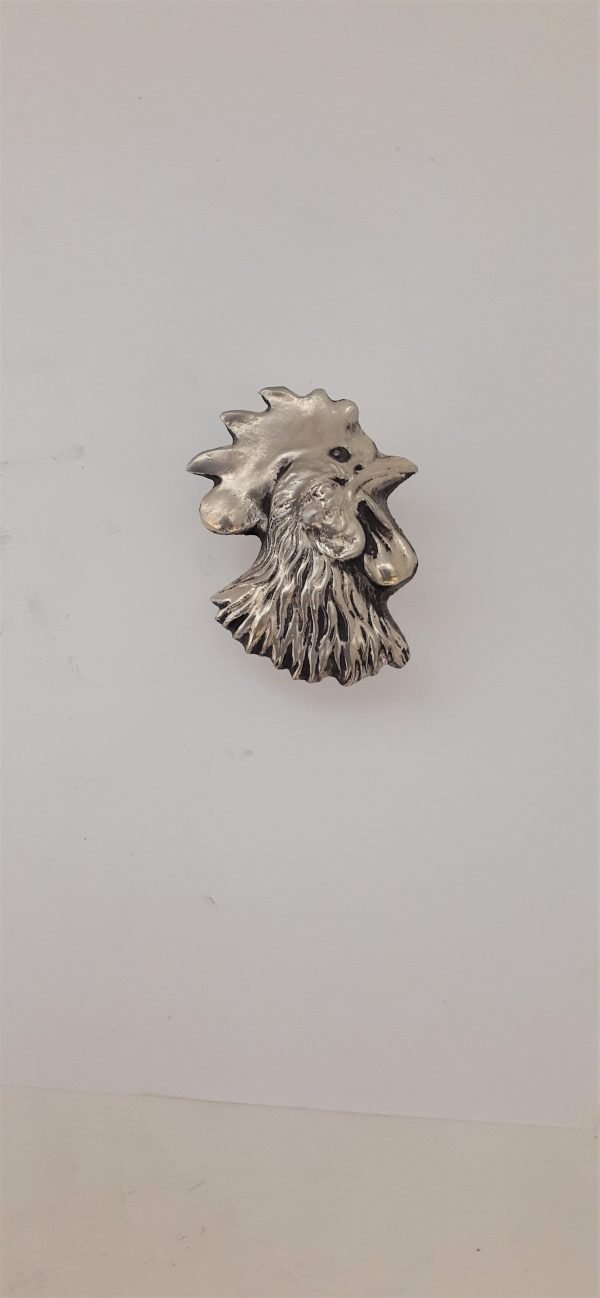 Rooster Head Left Cabinet Knob Solid Metal