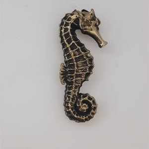 Seahorse Left Cabinet Pull Solid Metal