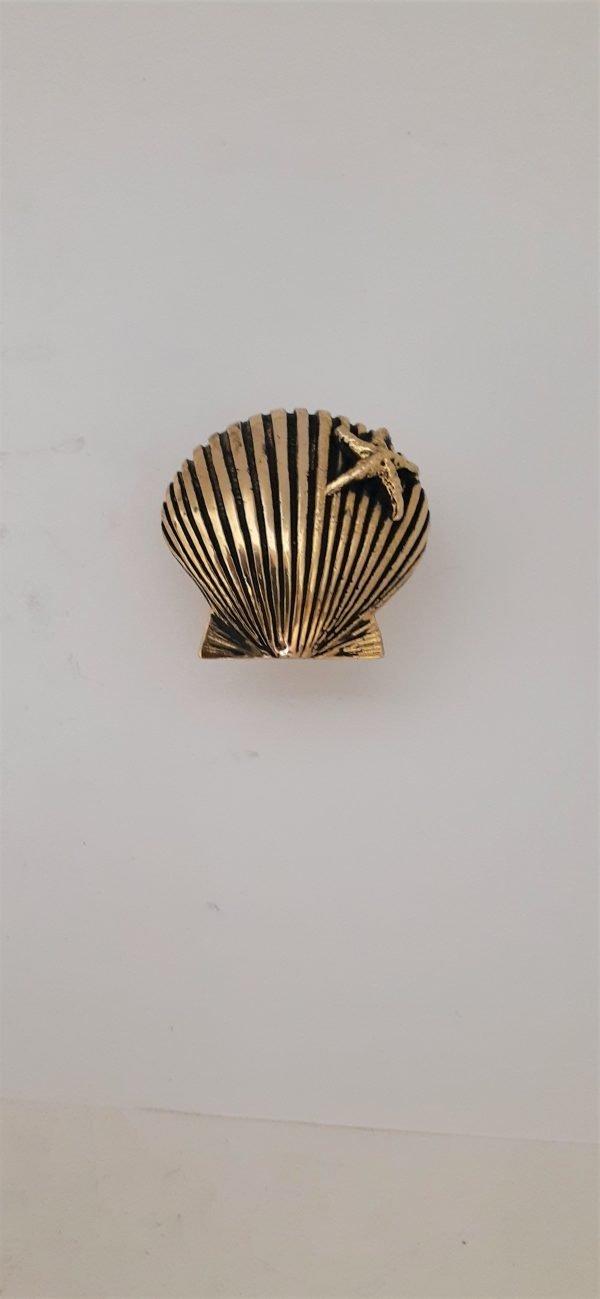 Starfish Shell Cabinet Knob Solid Metal